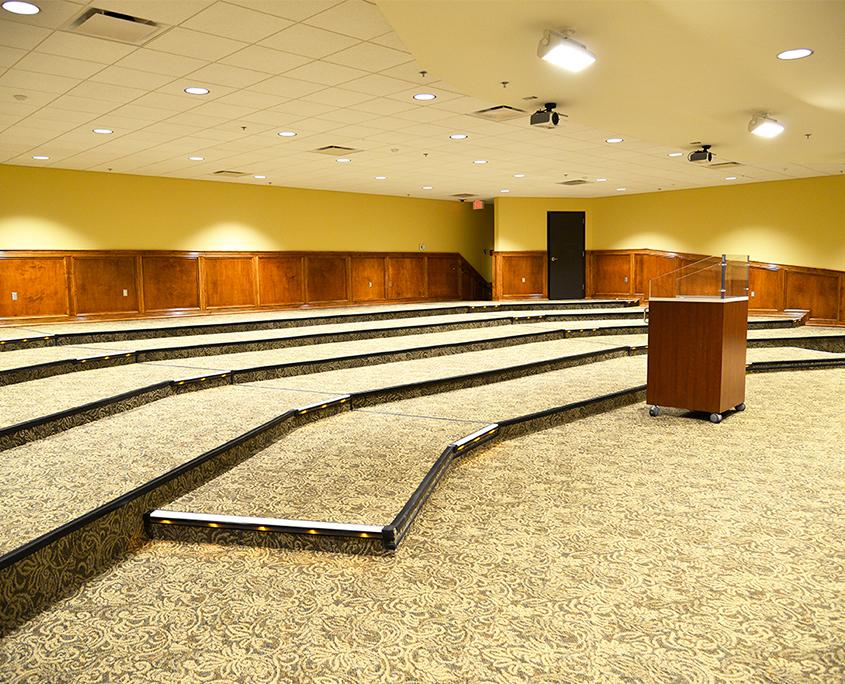 Multi-level auditorium with a podium