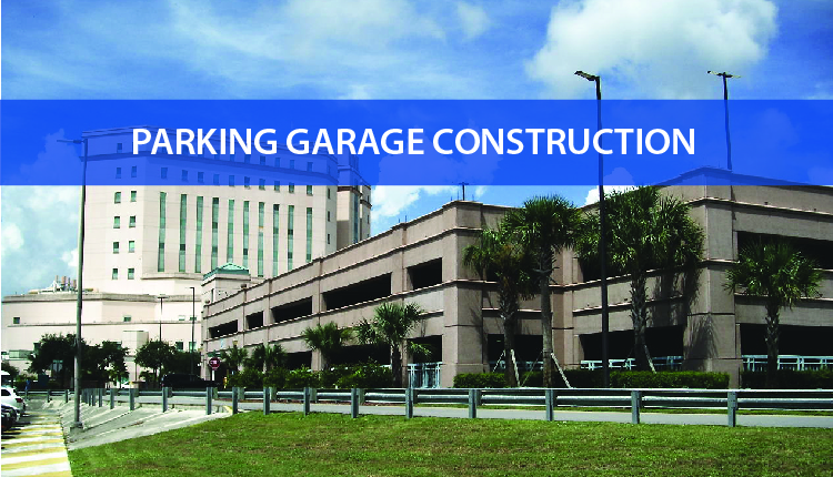 Precast parking garage at West Palm Beach VA Medical Clinic